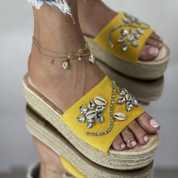 Papuci Sidera Galbeni