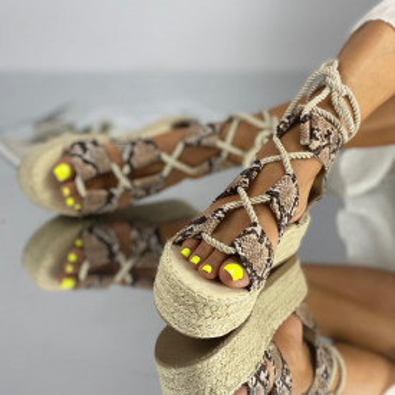 Sandale cu Platforma Meria Snake