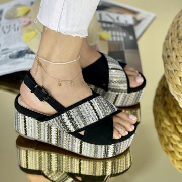 Sandale cu platforma Suni Negre