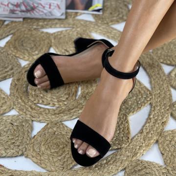 Sandale cu toc Ada Negre Kdf