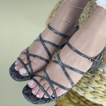 Sandale Cu Toc Lauser Negre