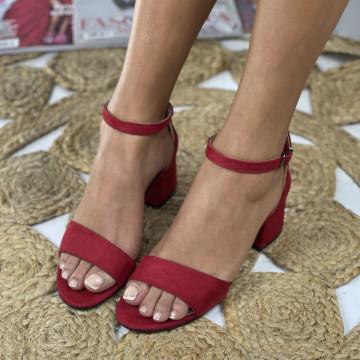 Sandale cu toc Mora Rosii