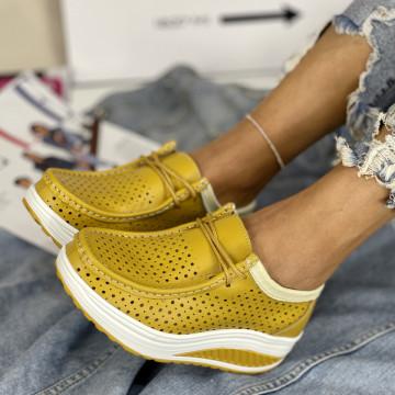 Pantofi Casual Sisli Galbeni