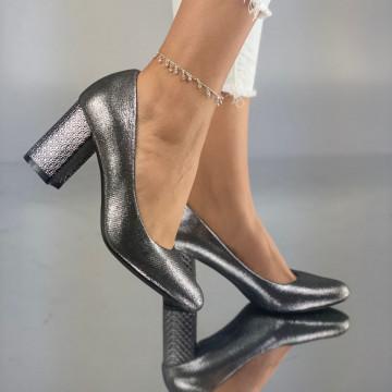 Pantofi cu toc Simoneta Gri