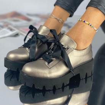 Pantofi Dama Casual Kola Bronz