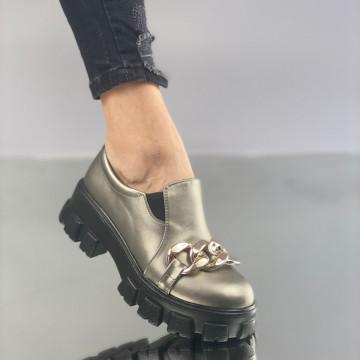 Pantofi Dama Casual Mulira Gri