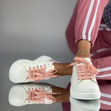 Pantofi Sport Dama Nusa Alb-Roz