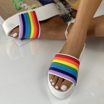 Papuci Crema Albi