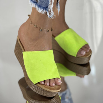 Papuci cu Platforma Meda Neon