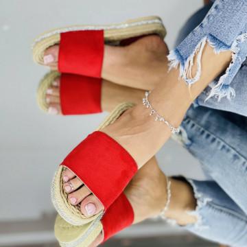 Papuci emerald Rosii