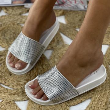 Papuci Sera Albe