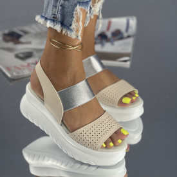 Sandale Coresa Bej