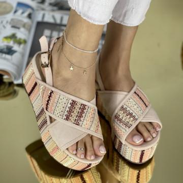 Sandale cu platforma Suni Roz