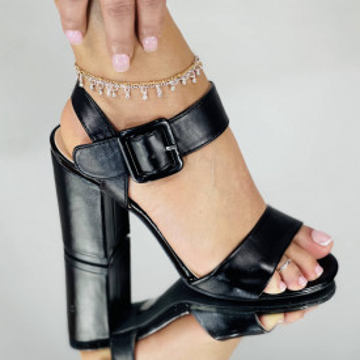 Sandale Cu Toc Jonei Negre