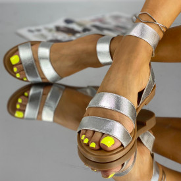 Sandale Fara Toc Korea Argintii