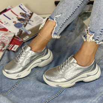 Pantofi Casual Mekona Argintii