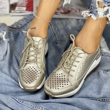Pantofi Casual Somei Aurii