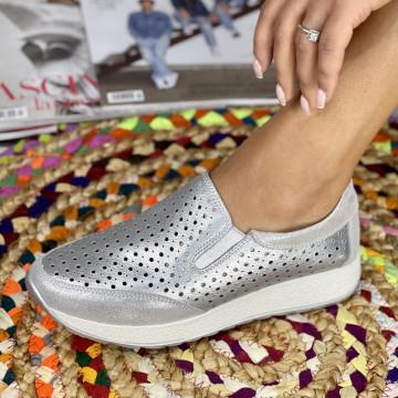 Pantofi Casual Zori Argintii