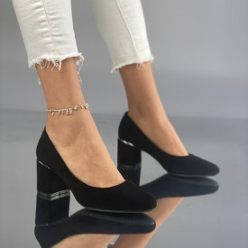 Pantofi cu Toc Simosa Negri