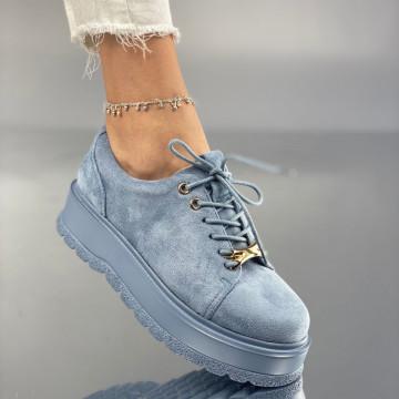 Pantofi Dama Casual Denisa Albastri