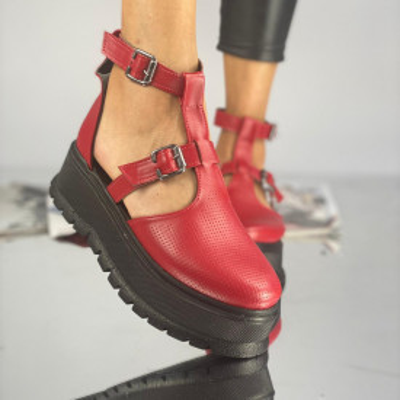 Pantofi Dama Casual Puris Rosii