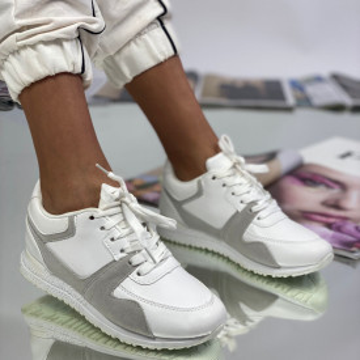 Pantofi Sport Dama Carina Albi