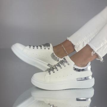 Pantofi Sport Sinfi Alb-Argintiu