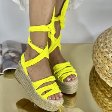 Sandale Cu platforma Antones Galbene