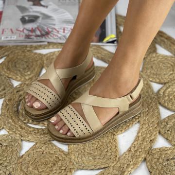 Sandale cu Platforma Codria Bej
