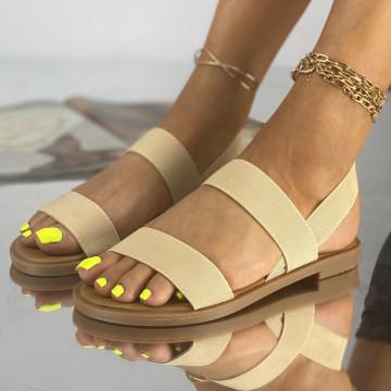 Sandale Fara Toc Lokes Bej