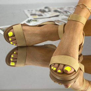 Sandale Fara Toc Tonia Bej
