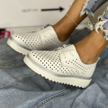 Pantofi Casual Anisia Albi