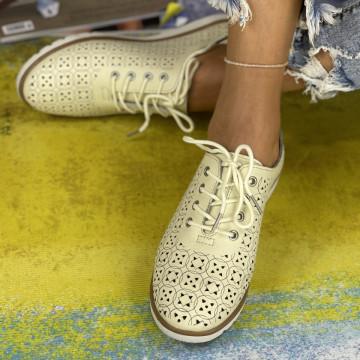 Pantofi Casual Dora Bej