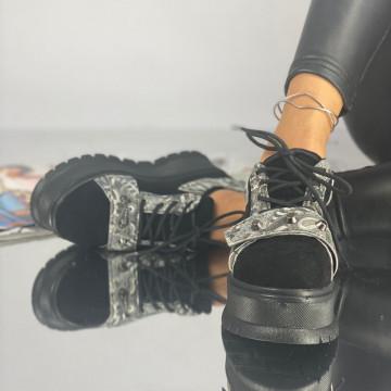 Pantofi Dama Casual Coreca Negri Gum