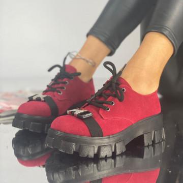 Pantofi Dama Casual Crix Rosii