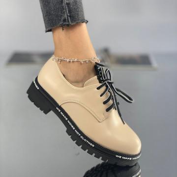 Pantofi Dama Casual Lulu Bej