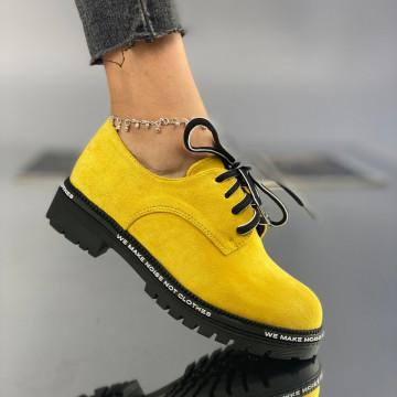 Pantofi Dama Casual Lulu Galbeni