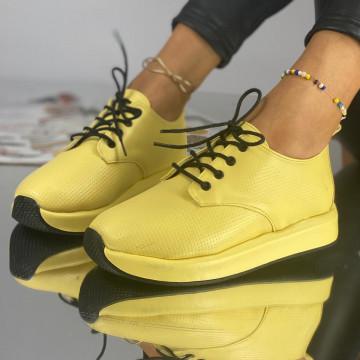 Pantofi Dama Casual Perota Galbeni