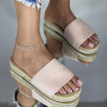 Papuci emerald Roz
