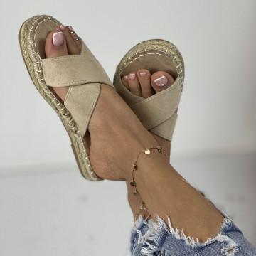 Papuci Laran Bej