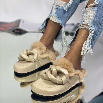 Papuci Parida Bej