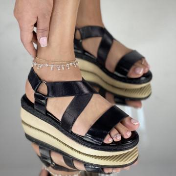 Sandale Cu platforma Alexos Negre
