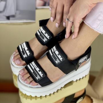 Sandale cu platforma Angina Negre