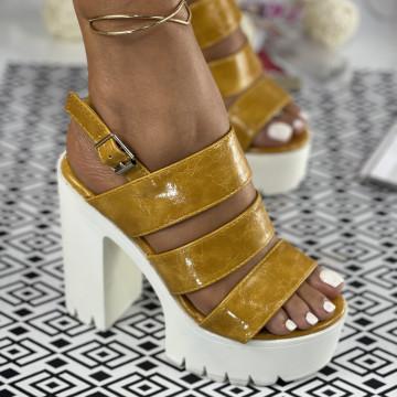 Sandale cu Platforma Donatina Galbene