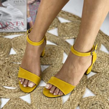 Sandale cu toc Ada Galbene