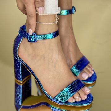 Sandale Cu Toc Somalia Albastre