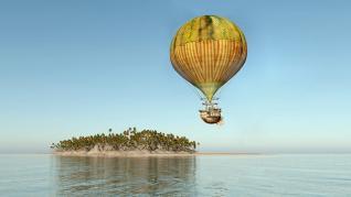 """Insula misterioasă. Naufragiații aerului"""" , o capodoperă din colecția de cărți de Jules Verne"""