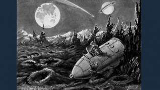 """Bifează o nouă aventură selenară cu romanul """"În jurul Lunii"""" din colecția Jules Verne"""