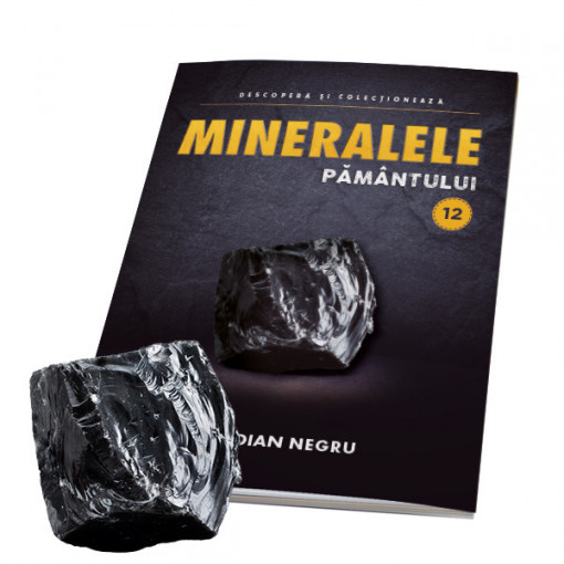 Editia nr. 12 - Obsidian negru (Mineralele Pamantului)