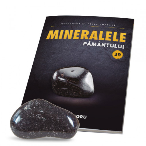 Editia nr. 39 - Onix Negru (Mineralele Pamantului)